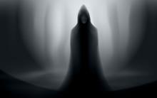 Spooky Man In Cloak Halloween ...