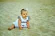 beautiful girl on the sandy beach
