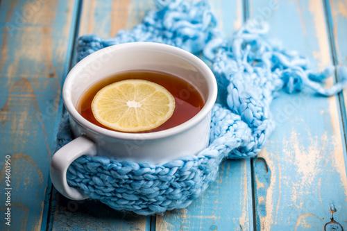 Staande foto Thee Hot tea cup