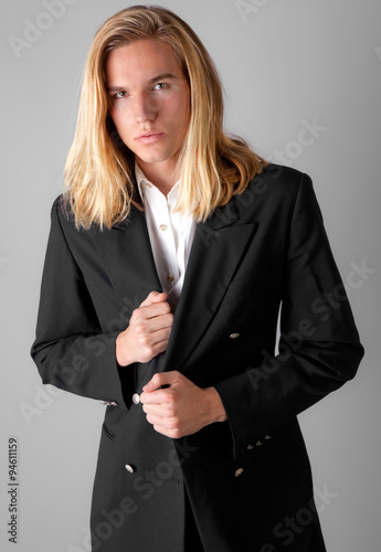 Fotografie, Obraz  Attractive Young Man in Blazer