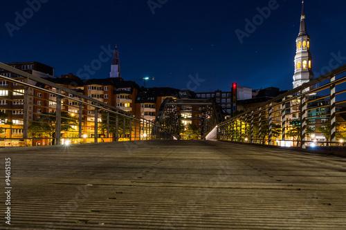 Weltkulturerbe Hamburger Speicherstadt Nachtaufnahme