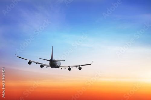 Türaufkleber Flugzeug travel background, international airlines