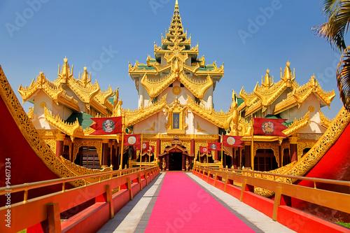 Photo  Karaweik palace in Yangon, Myanmar