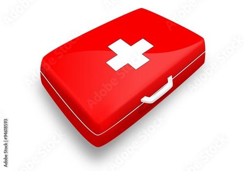 trousse de secours version rouge avec croix blanche comprar este vector de stock y explorar. Black Bedroom Furniture Sets. Home Design Ideas