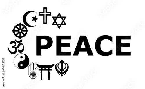 Photo  Peace Religious symbols