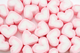 Heart Marshmallows Background.