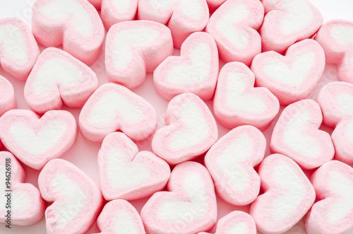 Heart Marshmallows Background.