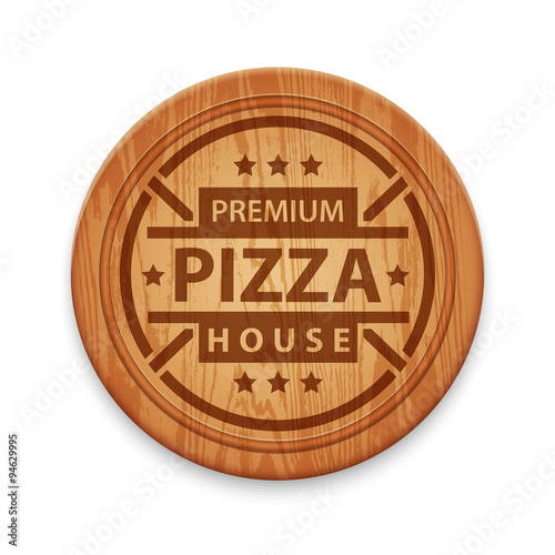 Vector pizza restaurant label - 94629995