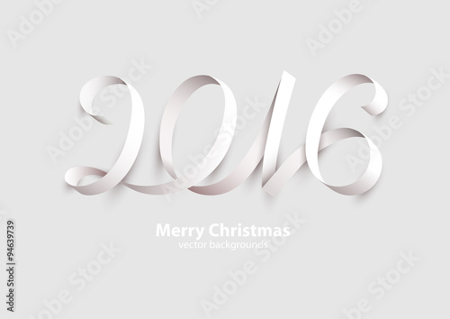 Poster  New Years 2016. Calligraphic inscription.