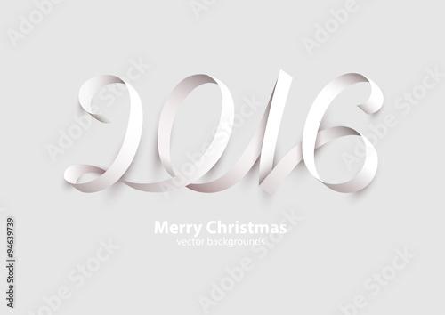 Fotografia  New Years 2016. Calligraphic inscription.