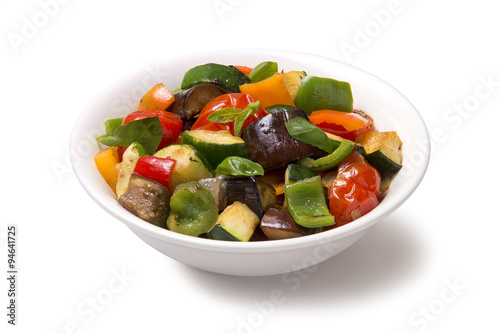 Ratatouille on a white background