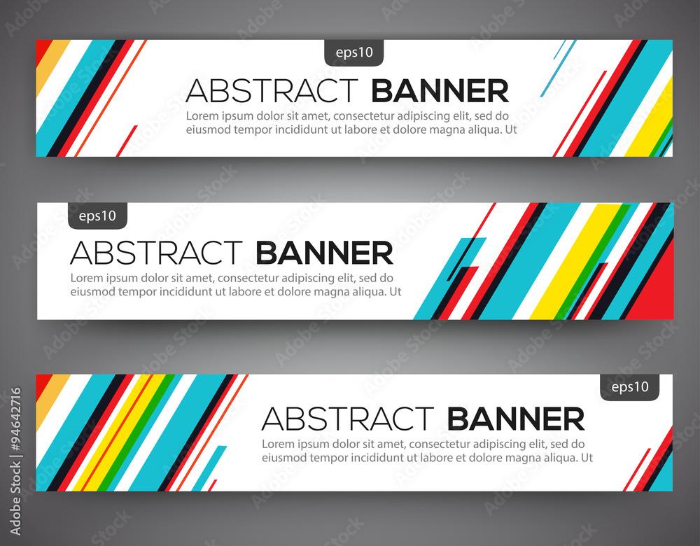 Obraz Abstract banner design fototapeta, plakat
