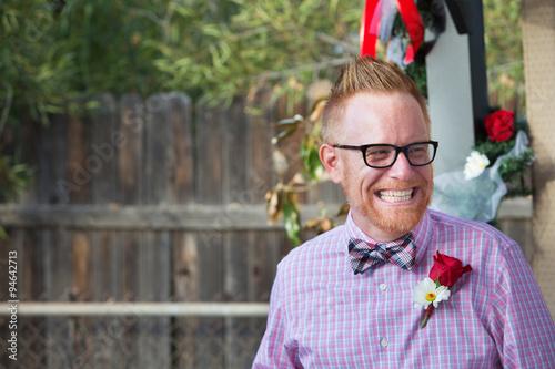 Fotografie, Obraz  Happy Man with Rose
