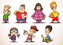 Little Children In Different S...
