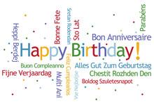 Happy Birthday Word Cloud