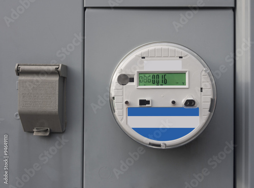 Fotografie, Obraz  SmartMeter on residential and commercial buildings monitor energy quality and provide real time energy consumption data