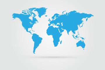 Fototapeta samoprzylepna World Map Illustration