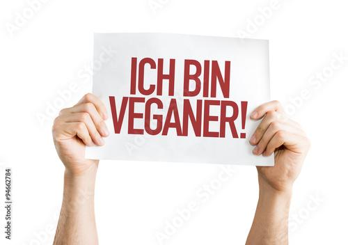 Fotografie, Obraz  Im vegetariánské (v němčině) transparent na bílém