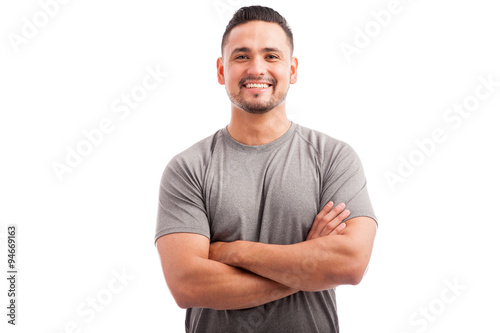Fototapeta Portrait of a happy athlete obraz