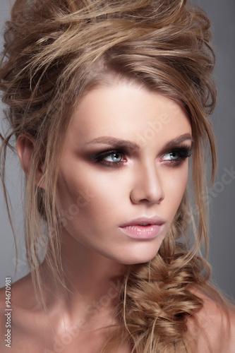 Fashionable portrait of a woman close-up. - 94670981