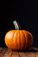 Halloween Pumpa I Mörk Belysning