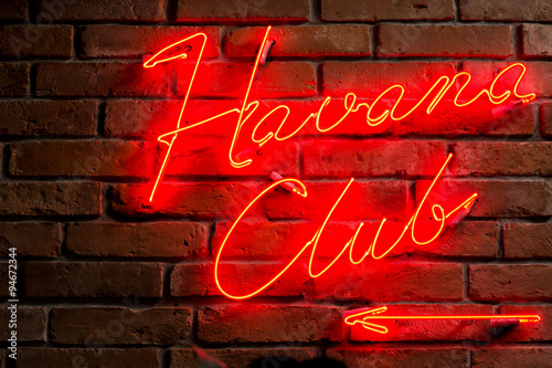 Foto op Plexiglas Havana Entrance to the club