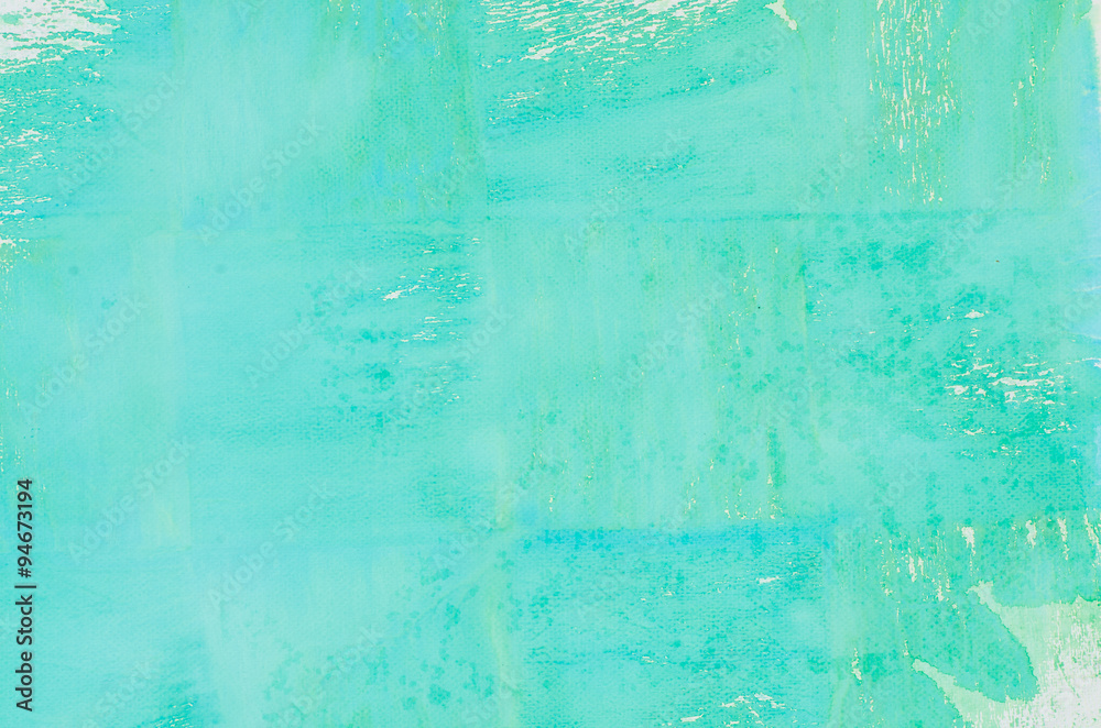 Fototapety, obrazy: turquoise watercolor background texture