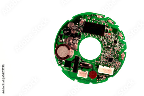 Fotografie, Obraz  round printed circuit board