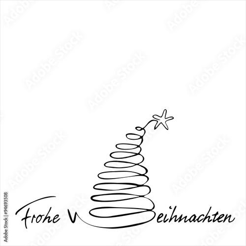 Weihnachtsbaum Gezeichnet.Frohe Weihnachten Handschriftlich Geschrieben Gezeichnet
