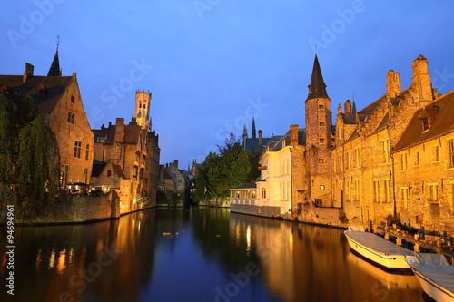 Deurstickers Brugge view of