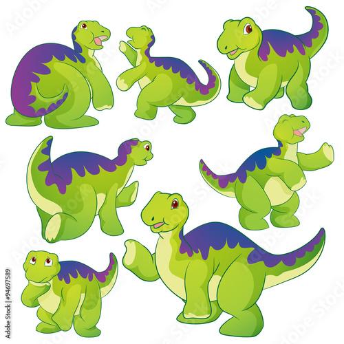 Poster Creatures Cute Apatosaurus
