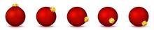 Vektor Weihnachtskugeln In Rot...