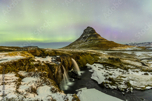 Poster Northern Europe Northern Light Aurora borealis