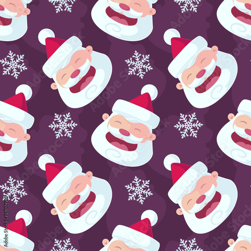 Cotton fabric Christmas Seamless Vector Pattern