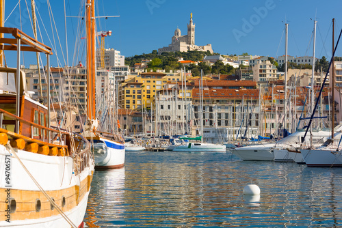 Canvas Prints Ship Yachts in Marseille port