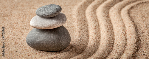 Photo sur Plexiglas Zen pierres a sable Japanese Zen stone garden