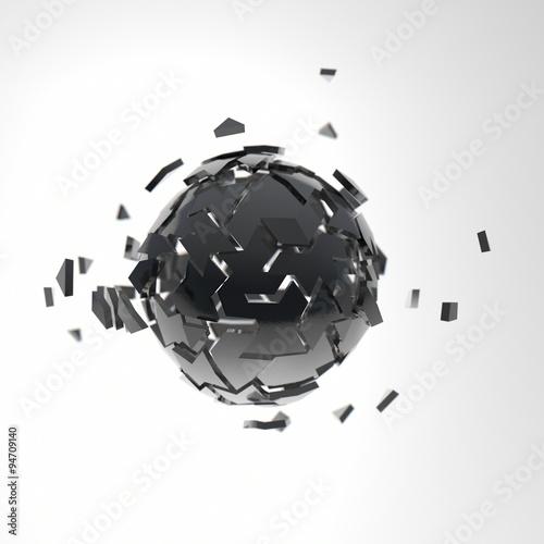 Zdjęcie XXL 3d odpłacają się struktury sfery ilustrację