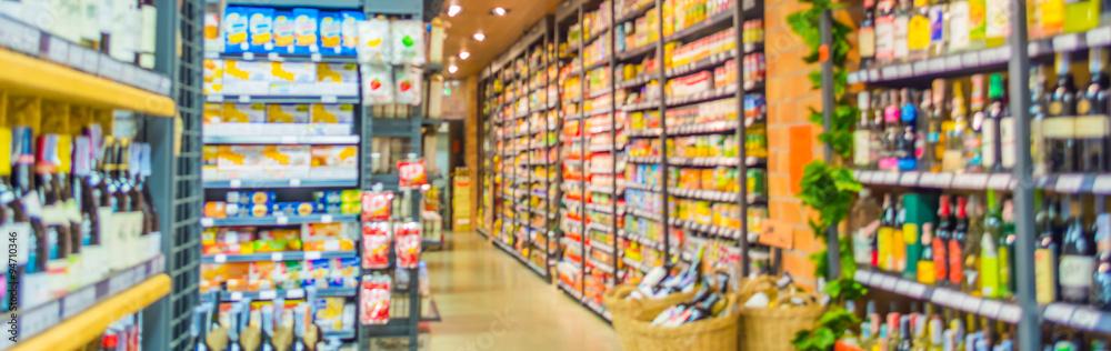 Fototapeta blurred image of supermarket