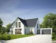 Haus Standard weiß mit Garage
