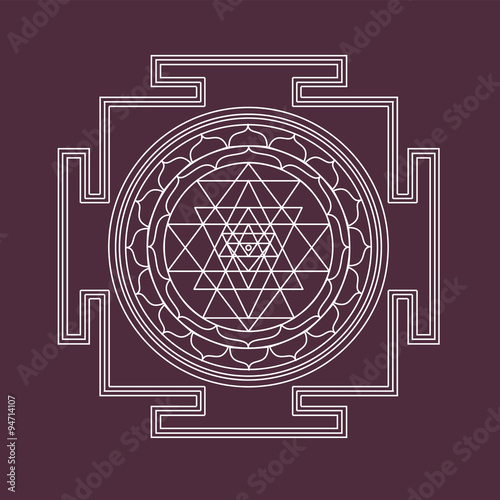 Vector Shri yantra Canvas Print