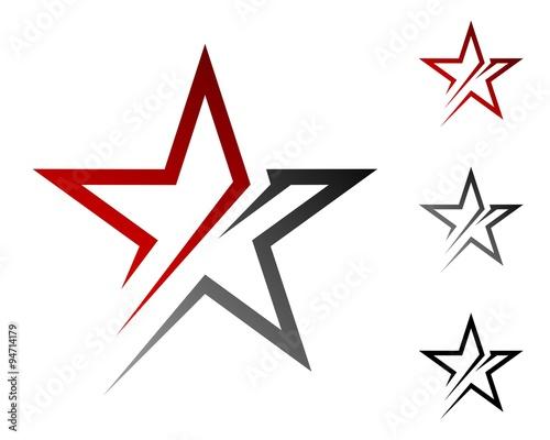 Obraz red and grey swoosh star - fototapety do salonu
