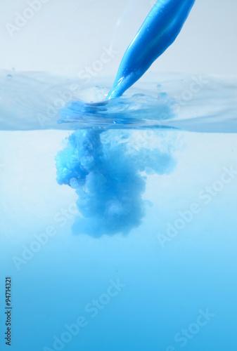Fotografie, Obraz  liquid soap pouring out