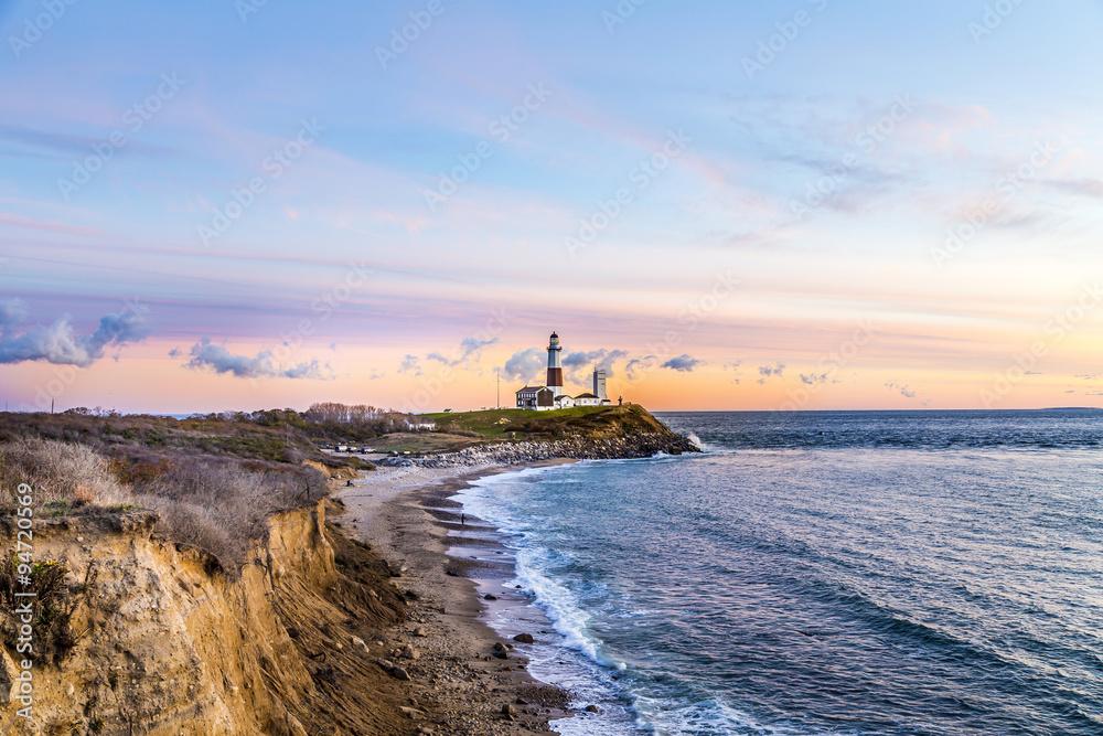 Fototapety, obrazy: Montauk Point Light, Lighthouse, Long Island, New York, Suffolk