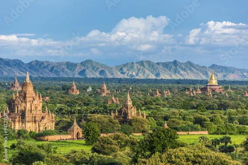 фотография  Pagoda landscape the Temples of Bagan(Pagan), Mandalay, Burma