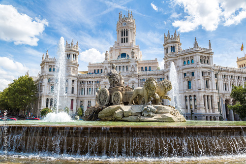 Keuken foto achterwand Seoel Cibeles fountain in Madrid