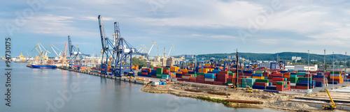 Plakat Deepwater Container Terminal w Gdańsku