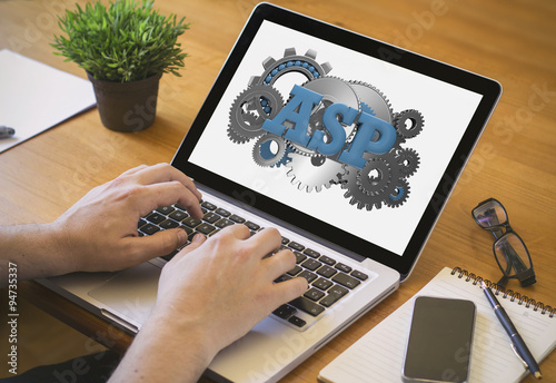 computer desktop asp Canvas Print