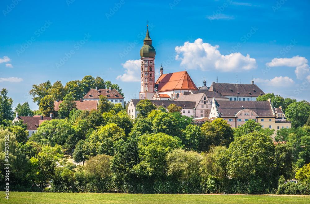 Fototapety, obrazy: Andechs Abbey in summer, district of Starnberg, Upper Bavaria, Germany