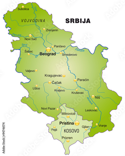 Karte Von Serbien Buy This Stock Vector And Explore Similar