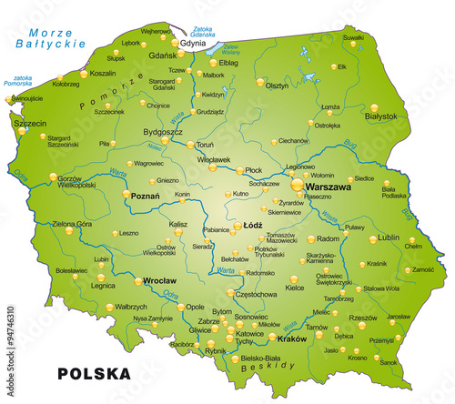 Karte Von Polen Buy This Stock Vector And Explore Similar